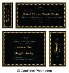 Vector Gold Formal Frame Set