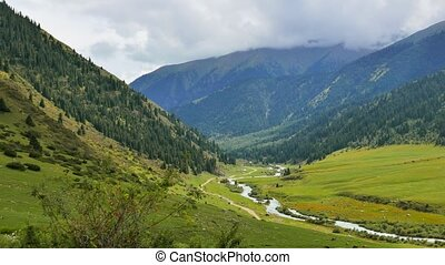 Valley View. Chon Ak-Suu. Grigoriev Gorge. Issyk Kul Lake....