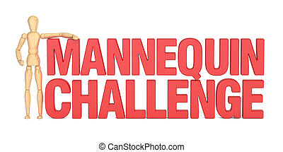 Mannequin Challenge concept, 3D rendering isolated on white...