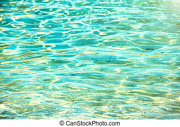 Clear water background, blue natural texture.