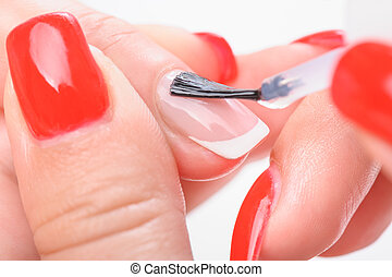 Manicure nail transparent painting - Manicure, covreing...