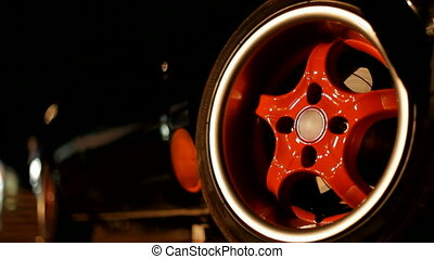 Wheels beautiful sports car.