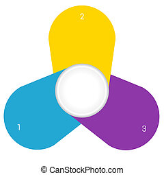 Camomile infographic template colourful petals 3 positions -...