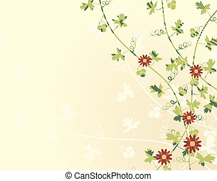 Climbing vines - Editable vector illustration of vines with...