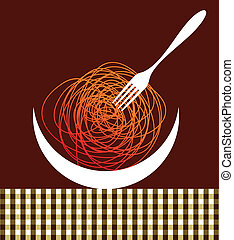 Noodles contemporary composition - Noodles silhouettes...