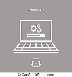 Upgrade settings computer icon