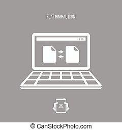 File exchange - Flat minimal icon