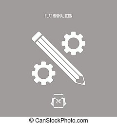 Creative working - Vector flat icon
