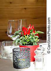 Table Decoration - Table decoration in the restaurant with...