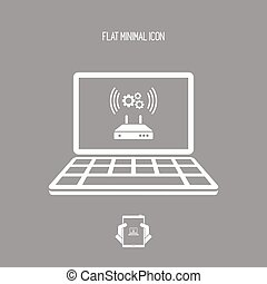 Router or modem setting icon