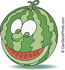 Fresh watermelon cartoon