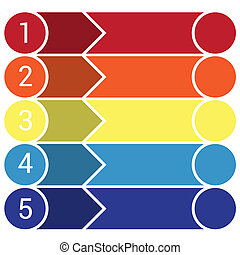 Template Infographic 5 horizontal strips - Template...
