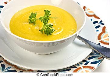 Butternut squash and cream of corn soup - butternut squash...