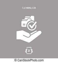 servicio, Oferta,  -, copia, datos, mínimo, icono