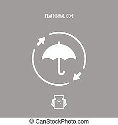 Full protection - Minimal vector icon