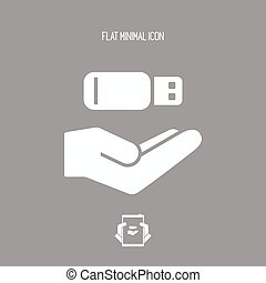 Service offer - Usb memory archiving - Minimal icon