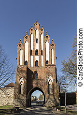Friedland Gate of Neubrandenburg, Mecklenburg, Germany - The...