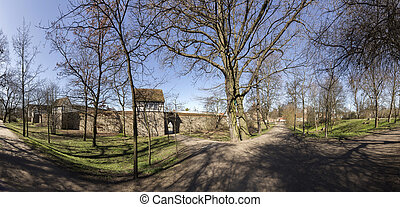 city wall of Neubrandenburg, Mecklenburg, Germany - famous...
