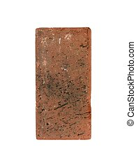 Red Brick - A red brick isolated against a white background