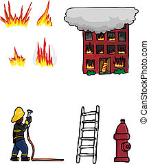 Fire Fighting Collection 01 - Collection 1 of various fire...