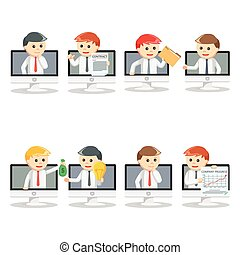 online businessman pc set