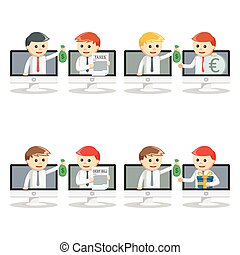 online businessman pc set 2