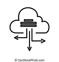 cloud based architecture illustration design