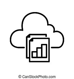 cloud reporting illustration design