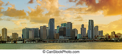 Panorama of Downtown Miami, Florida