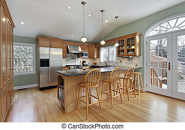 Kitchen in modern home
