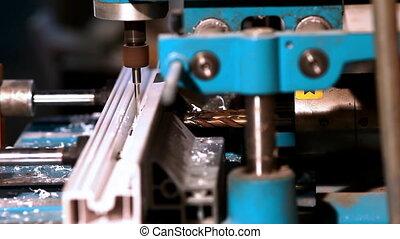 Drill prepare hole in plastic
