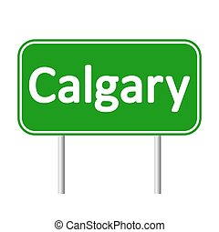 Calgary road sign. - Calgary road sign isolated on white...