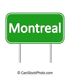 Montreal road sign. - Montreal road sign isolated on white...