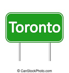 Toronto road sign. - Toronto road sign isolated on white...