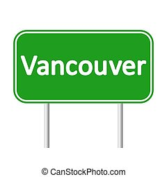 Vancouver road sign. - Vancouver road sign isolated on white...