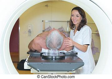 assuring a patient