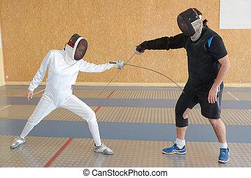 Fencing duel