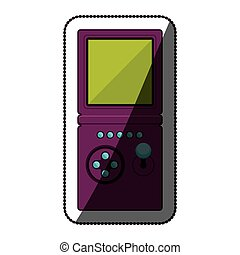 Isolated videogame device design - Videogame icon. Device...