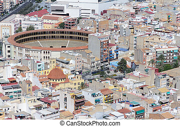 Alicante bullring - aerial view of some buildings of...