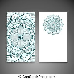 Business card with mandala in ethnic style - Business card....