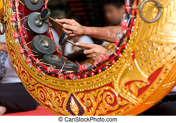 Gong Mon, a traditional Thai instrument particularly used in...