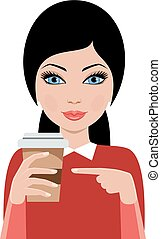 Woman from coffee