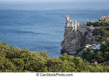 """The decorative Neo-Gothic castle """"Swallow's Nest"""" on the..."""