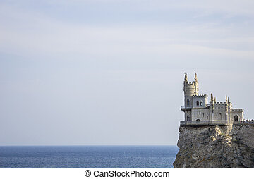 "The decorative Neo-Gothic castle ""Swallow's Nest"" on the..."
