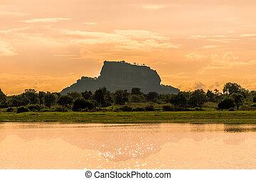 Sigiriya, roca,  Sri,  Lanka, fortaleza
