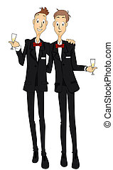 Gay Marriage with Clipping Path