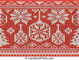 Happy winter knitted ornate , seamless pattern, vector...