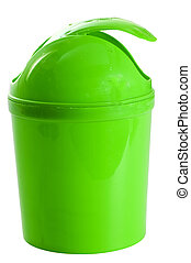 green plastic container for waste