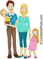 Family with Clipping Path