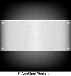 Metal plate on the carbon background